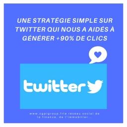 Une stratégie simple sur Twitter qui nous a aidés à générer +90% de clics