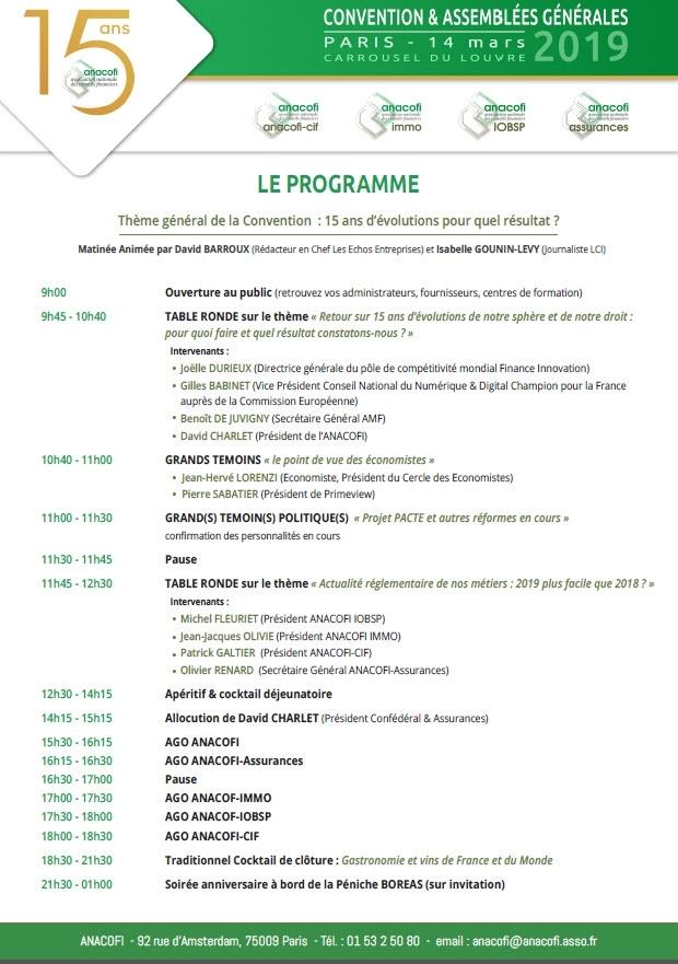 anacofi programme