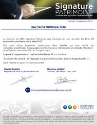 Invitation Patrimonia